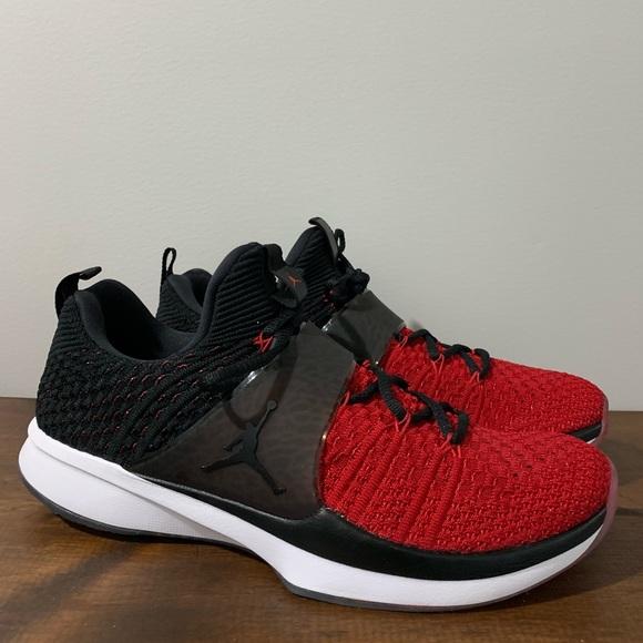 sale retailer c794c 6bf2a Jordan Other - Jordan Trainer 2 Flyknit Gym Red Black-Black 10.5